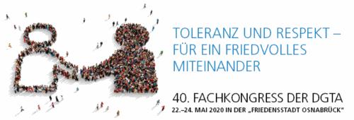 40. Fachkongress der Deutschen Gesellschaft für Transaktionsanalyse, 22. - 24. Mai 2020 in Osnabrück