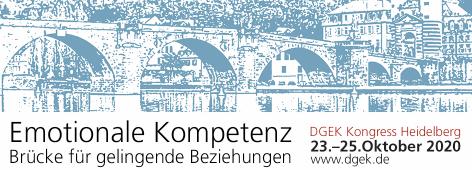 Kongress der Deutschen Gesellschaft für Emotionale Kompetenz 23. - 25. Oktober 2020 in Heidelberg